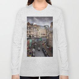 Victoria Street in Edinburgh, Scotland Long Sleeve T-shirt
