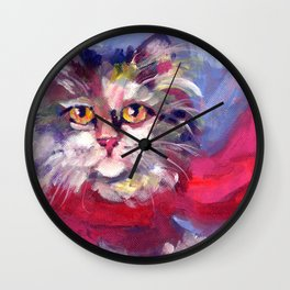 Meow's New Muffler Wall Clock