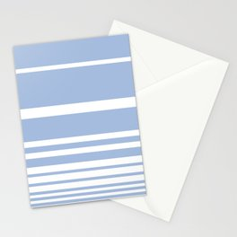 Scandi Pastel Cornflower Stripes Stationery Cards