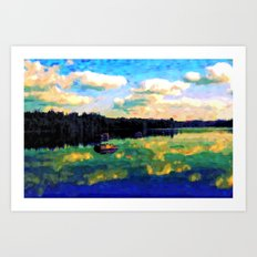 The Giant's Steps On The Lake - Painting Style Art Print