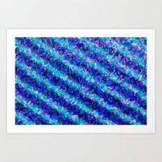 Blue fun Art Print