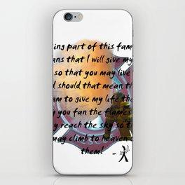 Fan the flames iPhone Skin