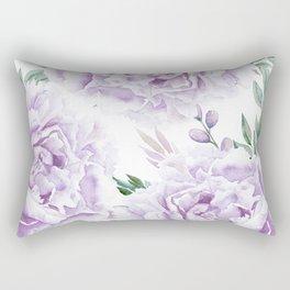 Pretty Purple Flower Garden Rectangular Pillow