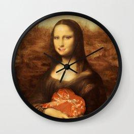Mona Lisa Loves Valentine's Candy Wall Clock