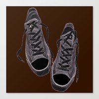 converse Canvas Prints featuring Converse by maeveelectro