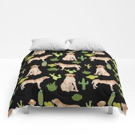 Labrador Retriever yellow lab cute cactus southwest pet portrait dog breed desert Comforters