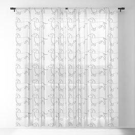 Doxie Love - White Sheer Curtain