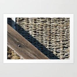 Wooden composition Art Print
