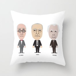 The Godfathers of Modern Architecture Throw Pillow