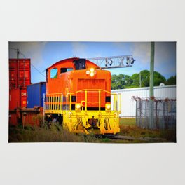 Colorful Freight Train Rug