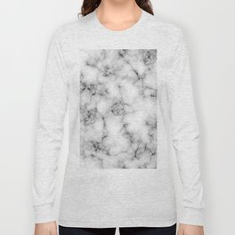 White Marble Texture Long Sleeve T-shirt