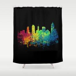 Painted Skylines: Atlanta Shower Curtain