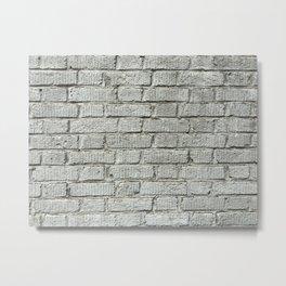 Gray Brick Wall Metal Print