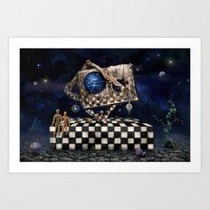 Aqua Space Art Print