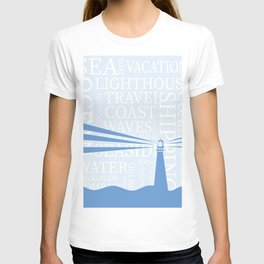 Nautical Lighthouse poster T-shirt