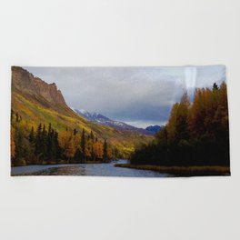 Matanuska River Alaska Beach Towel