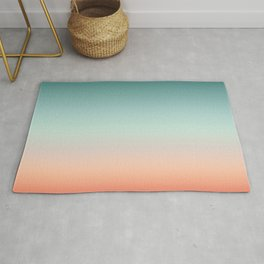 Color gradient background - fading sunset sky colors Rug