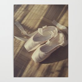 Ballet dance shoes Poster