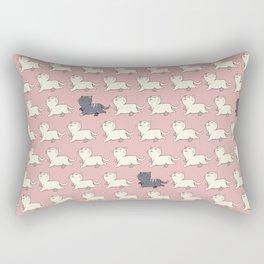 Proud cat pattern Pink Rectangular Pillow