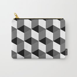 Geometric Optical Illusion Cube Art Carry-All Pouch