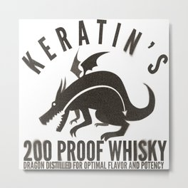 Keratin's Dragon Distilled Whisky Metal Print