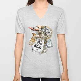 Time is an IIlusion Unisex V-Neck