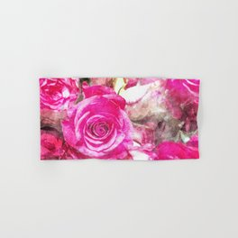 Bunch of Pink roses (watercolour) Hand & Bath Towel