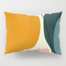 shapes geometric minimal painting abstract Pillow Sham