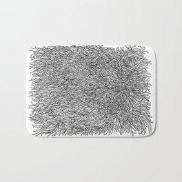 spaghetti texture Bath Mat