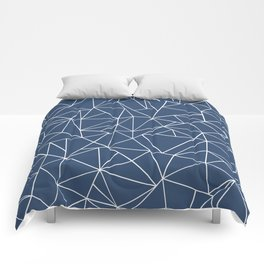 Abstraction Outline Navy Comforters