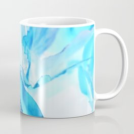 High Contrast Blue Rose Coffee Mug