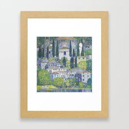 Gustav Klimt Church in Cassone Framed Art Print