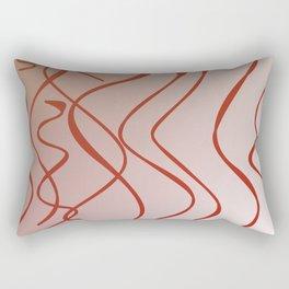 wild zigzag sweet lines, pink Rectangular Pillow