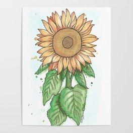 Cheerful Sunflower Poster