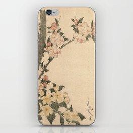 Hokusai, flowers of a cherry-tree- manga, japan,hokusai,japanese,北斎,ミュージシャン iPhone Skin