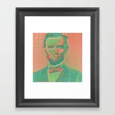 Pop Lincoln Framed Art Print