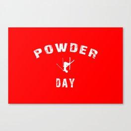 Powder Day Red Canvas Print