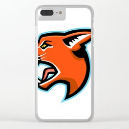 Caracal Head Side Mascot Clear iPhone Case