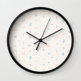 Color Coded — Light Background Wall Clock