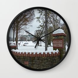 The Baptist Home Wall Clock