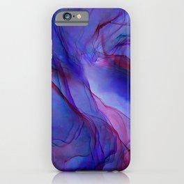 Magenta Violet Ink Flow Painting iPhone Case