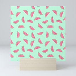 Seamless Watermelon Pattern Mini Art Print