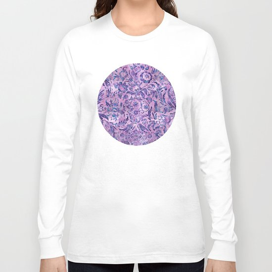 Watercolor Damask Pattern 02 Long Sleeve T-shirt
