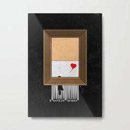 Banksy shredding Metal Print