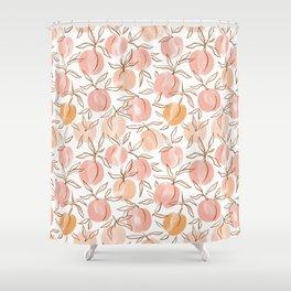 Watercolor peach Shower Curtain