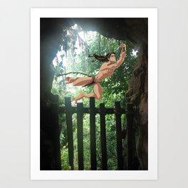 Le passage Tarzan Art Print