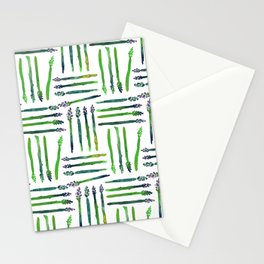 Asparagus Bunch Watercolor Stationery Cards