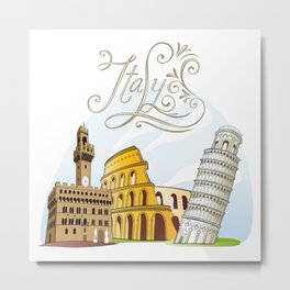 Italy with significant buildings Metal Print