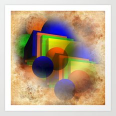 forms and colors Art Print
