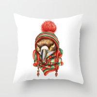 hawk Throw Pillows featuring Hawk by Julia Badeeva